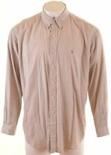 RALPH LAUREN Mens Shirt 2XL Grey Check Cotton Loose Fit Blake MQ13