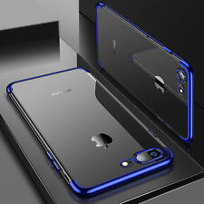 Luxury Ultra Slim Shockproof Silicone Clear Case Thin Cover For Apple iPhone 7