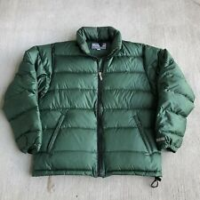 Vintage 1990s The North Face Windy Pass Green Puffer Nuptse Jacket Coat Rare USA