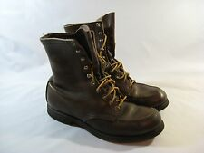 Vtg. Red Wing Brown Lace-Up Grunge Boots Rubber Sole Women's 8 M