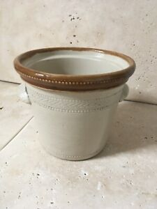 LARGE OLD DECORATIVE BUCHAN of PORTOBELLO POTTERY 2 POUND BUTTER CROCK 5 inches