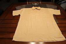 MENS~LOT OF 2 ~POLO SHIRTS~TIGER HILL~XL~SS~3 BUTTON ~1 YELLOW, 1 BLUE&TAN~NWOT
