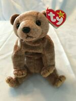 Pecan Ty Beanie Baby Plush Bear Style 04251 DOB April 15,1999 With Tag Errors