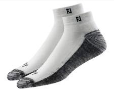 Footjoy ProDry Men's Low Cut Socks - 2 Pack - 2 PAIR (Size 7-12) White MSRP $15