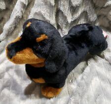 Douglas Black Tan Dachshund Dog Puppy Plush Stuffed Animal Toy NWT