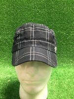 Very Rare Nike Cadet Hat Plaid Blue White Just Do It 1 Size Cap Military Fast