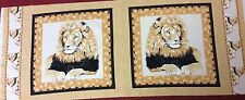 Timeless Treasures - Lion Cushion Panel - 100% Cotton Fabric