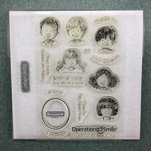Precious Smiles W191 CTMH Close to My Heart Acrylic Stamps set Kids Child Faces