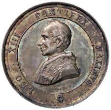 s1516) Medaglia Papale Leone XIII (1878-1903) Ai Benemerenti  AG Ø 32