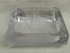 ANTIQUE AMERICAN DOROTHY THORPE INTAGLIO GLASS ASHTRAY DISH EUCALYPTUS ART DECO