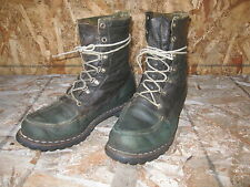 Vtg 50s-60s Mens Red Wing Irish Setter Sz 9.5D Hunting Sport Work Boots Green/Bw
