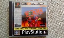 WORMS  - SONY PLAYSTATION 1 PS1 GAME - 1995 EX CONDITION