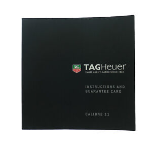 TAG HEUER INSTRUCTIONS AND GUARANTEE CARD CALIBRE 11 BOOKLET