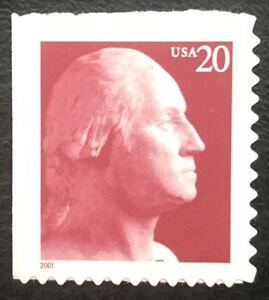 2001 Scott #3482 - 20¢ - GEORGE WASHINGTON  - Booklet Single Stamp - Mint NH