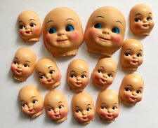 Lot of 3 Vintage Boy Doll Heads New Old Stock