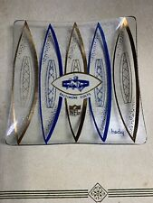 RARE 1960's Vintage Baltimore Colts NFL Hedy Glass Snack Tray