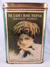 The Ladies Home Journal Birthday Number Reproduction Cookie Biscuit Tin 1910 (O)
