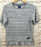 Nike advance 15 knit top shirt tee womens small gray short sleeve 838954 C9