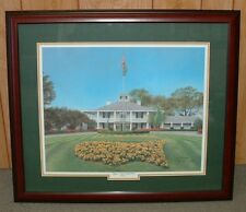 Framed - Clubhouse Augusta National MASTERS - signed and numbered giclee