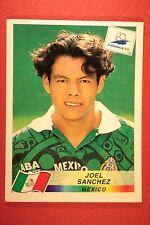 PANINI WC WM FRANCE 98 1998 N. 359 MEXICO SANCHEZ WITH BLUE BACK MINT!!