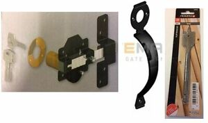 """Gatemate 2""""/ 50mm Throw Lock with Rear Latch  & Pull Handle + FREE DRILL BIT"""