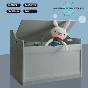 Gray Kids Toy Box Chest Storage Cabinet Container Children Clothes Organiser