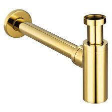Gold Röhrensiphon Siphon Sifon Geruchsverschluss Bad Küche Spüle Sanlingo