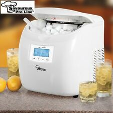Savoureux Pro Line Portable Ice Maker w/ LCD Display - Makes Ice in 6 Minutes!