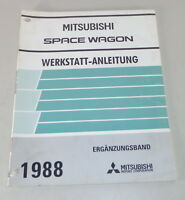 Workshop Manual Mitsubishi Space Wagon Supplement from Year 1988