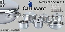 Callaway bateria cocina acero inoxidable Inox 0 9