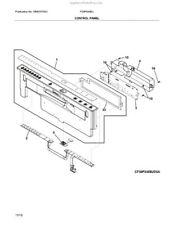 Oem Frigidaire dishwasher- Console Assembly- 5304520552