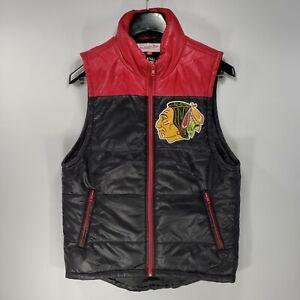 Mitchell & Ness Vintage Hockey Chicago Blackhawks Full Zip Puffer Vest SZ Small