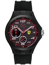 Scuderia Ferrari Lap Time Multi Func Black Dial Strap Watch