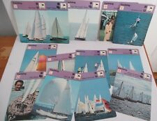 Lot of 13 SPORTSCASTER YACHTING CARDS, 1977-78
