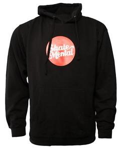 SKATE MENTAL  - Skateboard Hooded Top / Hoodie - Medium - Black