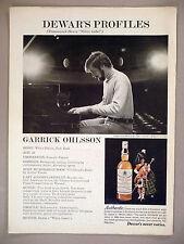 Dewar's White Label Whiskey PRINT AD - 1975 ~ Dewar's Profiles: Garrick Ohlsson