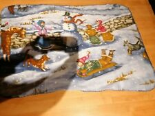 Snowman Scene Fleece Blanket