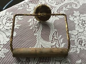 Antique TOILET PAPER HOLDER Metal Wire Wall Mount UNIQUE Shabby