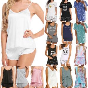 Summer Women Pajamas Set Top Shorts Sleepwear Loungewear Outfit PJS Nightwear