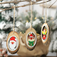 Christmas Tree Wooden Hanging Pendant Ornaments For Home Party Decorations 2021