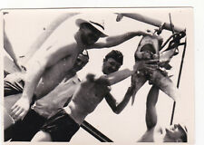 1960s RARE nude muscle men sailors with shark gay interest old Russian photo