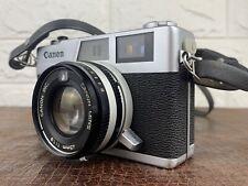 CANON Canonet QL19 35mm Rangefinder Film Camera w/Half Case Excellent Japan