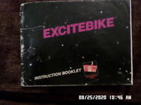 Excitebike (NES Nintendo) Instruction Manual Booklet Only.. NO GAME