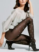 FIORE Smile Luxury 40 Denier Super Fine Decorative Polka Dot Patterned Tights