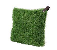 Graskissen 40 x 40 cm mit Kissenfüllung Gras Rasen Kissen Couchkissen