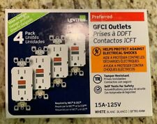 4PCS GFTR1-R4W GFI 15A TAMPER RESISTANT WHITE LEVITON GFCI BRAND NEW IN BOX