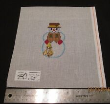 Hand painted Needlepoint Canvas  Forester Snowman Painted Pony Designs 906 T
