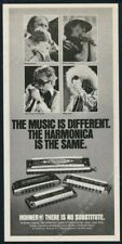 1980 Toots Thielemans Charlie McCoy Magic Dick photo Hohner harmonica print ad