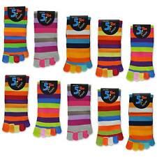 5 oder 10 Paar Zehensocken Bunte Ringel Zehen Socken Damensocken