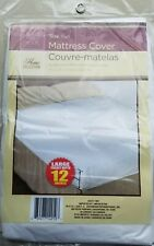 Home Collection Fitted Mattress Cover Full Size Plastic Proctector 54 x 75 in.
